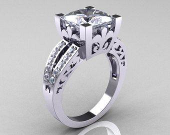 Clásico 14K oro rosa 30 quilates diamante negro solitario