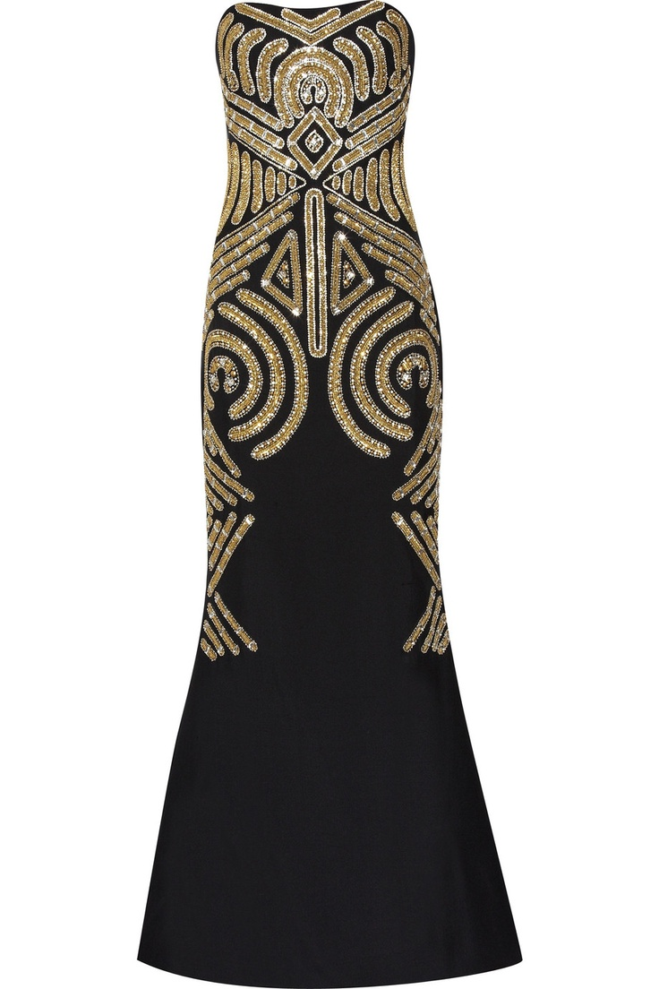 I love this dress!!Silkcrep Gowns, Embellishments Silk Creps, Dresses, Strapless Gowns, Embellishments Silkcrep, Silk Creps Gowns, Marchesa Embellishments, Art Deco, Silkcrep Strapless