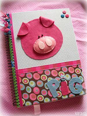 Karoles: caderno Altered notebook.  Notebook. Cuaderno decorado. Libro alterado. Book.