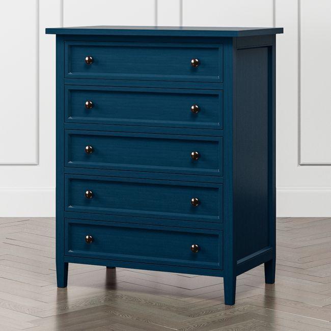 Harbor Indigo 5 Drawer Chest Reviews Crate And Barrel Diy Dresser Blue Bedroom Furniture Blue Furniture