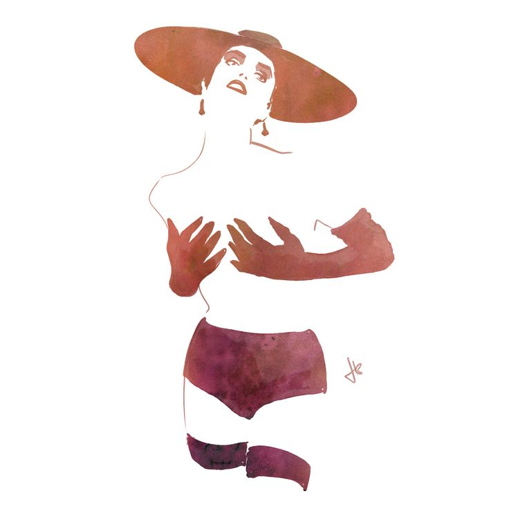 Minimalistic burlesque themed fashion illustration. I tried to omit as much possible, whilst still keeping a 'readable' image