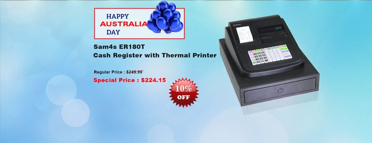 QuickPOS now dealing with Australia Day Specail Day offers on Sam4s ER180T Cash Register with Thermal Printer. Browse our POS Store now..!  https://www.quickpos.com.au/pos-hardware/cash-registers/cash-register-sam4s-er-180t-single-station-cash-register