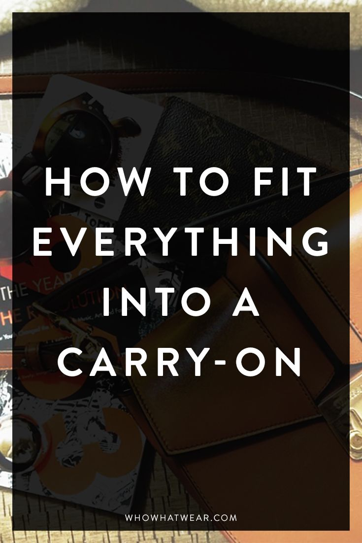 Tips on how to fit EVERYTHING into your carry-on to avoid annoying baggage claim lines // travel tips