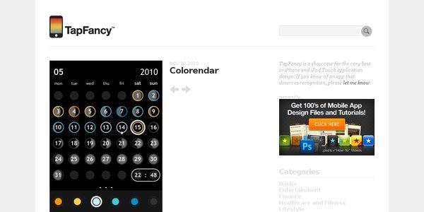 TapFancy is a showcase for the very best in iPhone and iPod Touch application design.