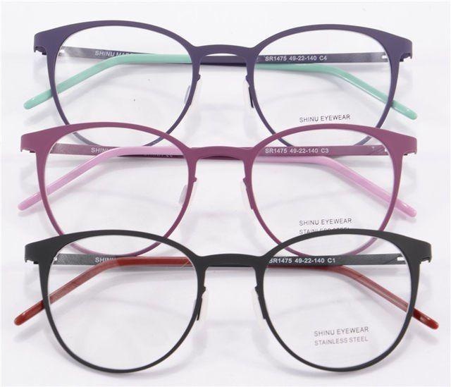 Montura De gafas redondas más vendida, montura De gafas para hombre, montura óptica, gafas transparentes y lisas, Oculos De Grau Feminino SR1475