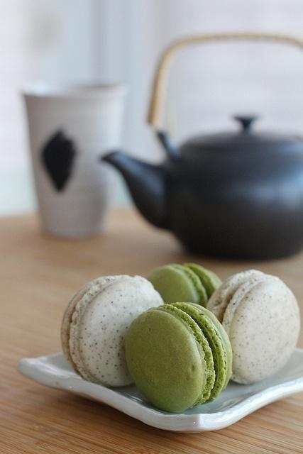 Matcha (Japanese Green Tea) Macarons