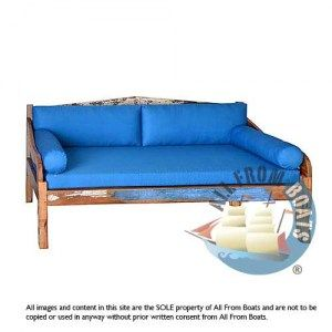 sofa, day bed, reclaimed boat timber. Nautical, recycled, reclaimed, boatwood, boat furniture.