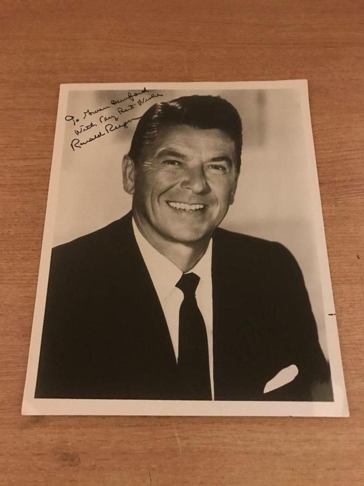 Rare Original Hand Signed 10 x 8 Ronald Reagan Photograph