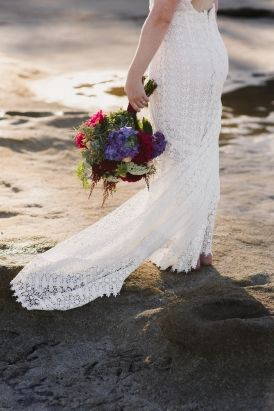 Jewel Toned Seaside Wedding Inspiration - Polka Dot Bride