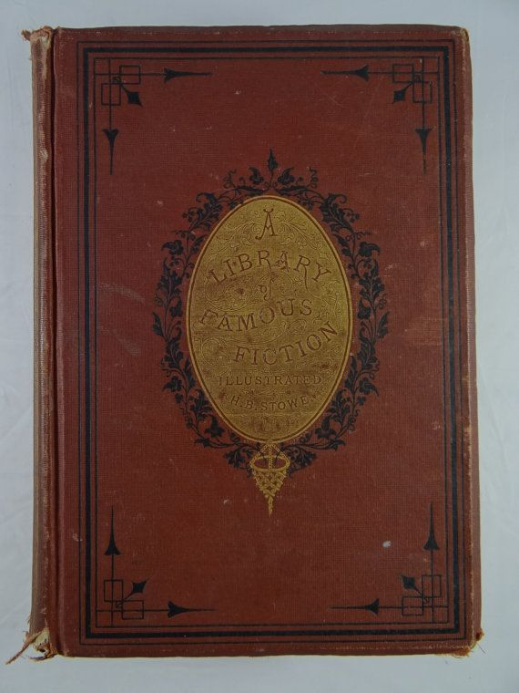 1873 Beautiful Binding Antique Book Famous Fiction Imaginitive Harriet Beecher Stowe