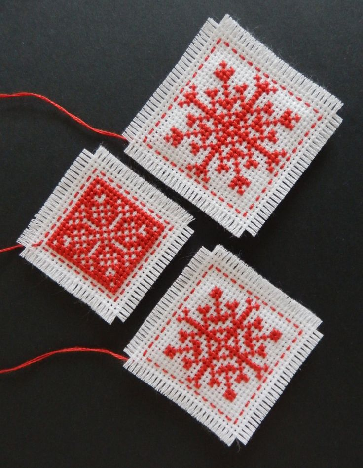 Christmas cross stitch pattern three Christmas by MKDesignArt, £1.50
