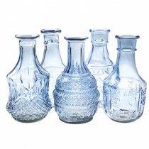 Váza Diamond (kék, 18 cm)