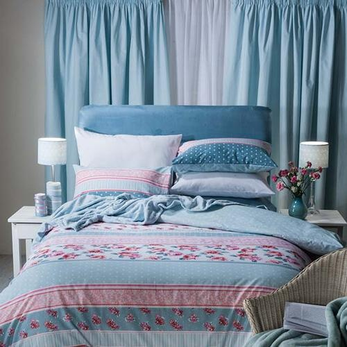 Juliet Pink, also in Duck Egg and Blue - great with the dotty duvet covers!