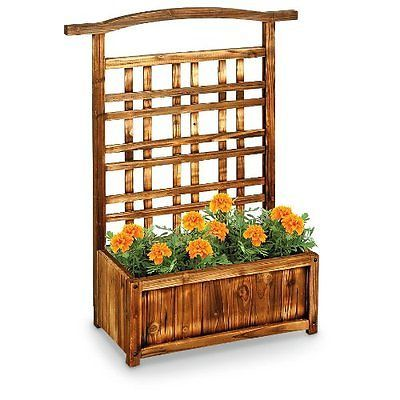 Wooden Planter Trellis For Outdoor Garden Planters Trellises Pinterest