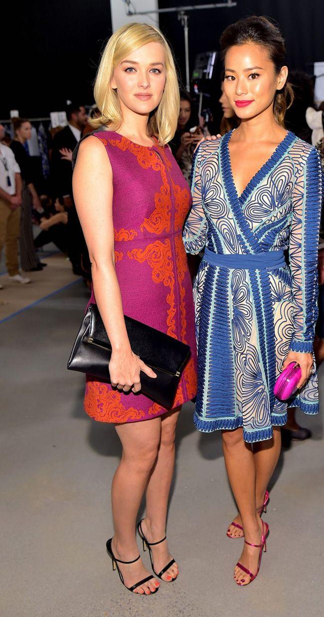Diane Von Furstenberg - Backstage - Mercedes-Benz Fashion Week Spring 2015 Head to toe in DVF