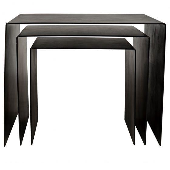 Noir Yves Metal Side Table