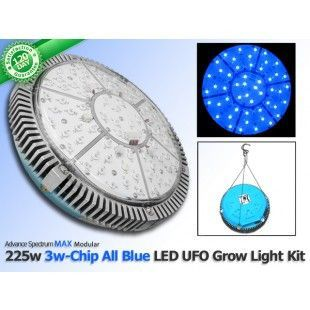 Check out our hottest deals ! 225 Watt Advanced Spectrum MAX 3w-Chip Modular ALL BLUE LED Grow Light U.F.O. Kit