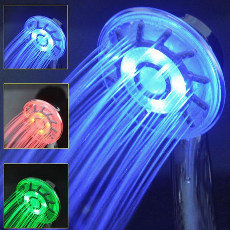 3 Colors LED Shower Head Changing Light Water Temperature Rainfall Hand-held New #men, #hats, #watches, #belts, #fashion, #style