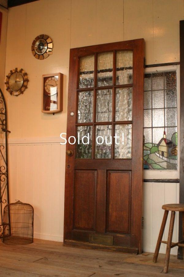 画像1 イギリス アンティーク木製ドア ガレージ扉 木製ドア