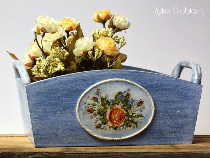 decoupage rose basket