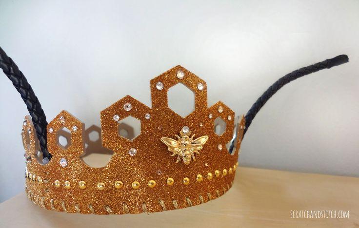 Queen Bee Costume with Gold Crown - scratchandstitch.com
