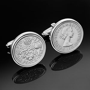 1943 | English Sixpence Cufflinks | Birthday Cufflinks