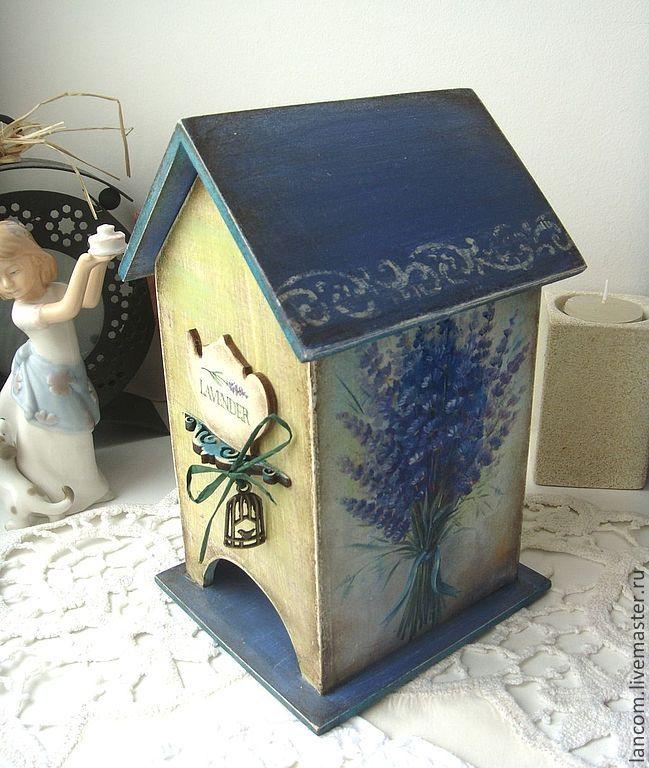"""Чайный домик """"Lavender tea"""" - синий,чайный домик,лаванда,винтажный стиль"""