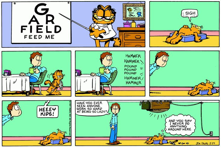 Garfield | Daily Comic Strip on February 24th, 1991