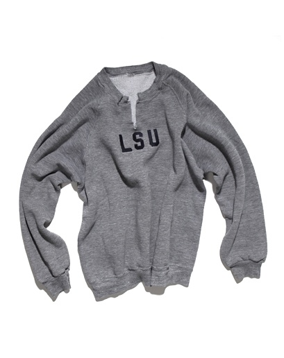 10 essentials: biily reid - LSU sweatshirt