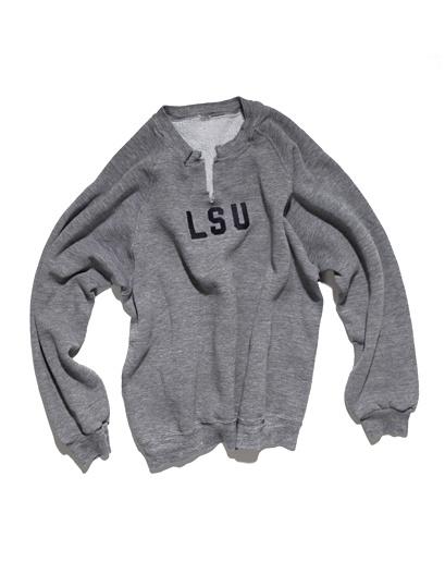 10 essentials: biily reid - LSU sweatshirt