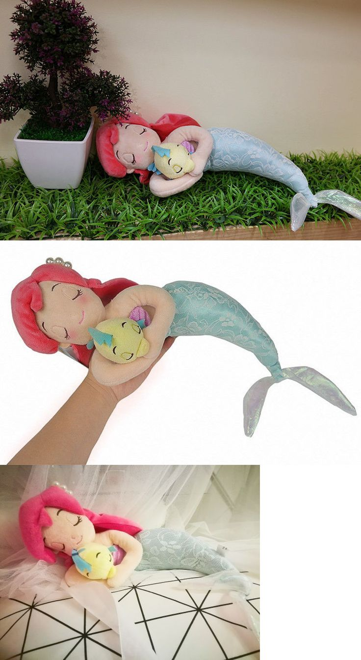 Little Mermaid 44036: Japan Disney Store Sleeping Ariel And Flounder Plush Doll Mermaid Toy -> BUY IT NOW ONLY: $33.66 on eBay!