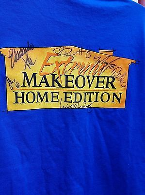 Extreme Makeover Home Edition Tee Shirt Cast Autographed Signed Ty Paige Paul Ed