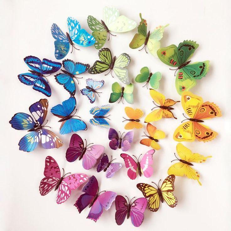 Spectacular D Butterflies Wall Stickers