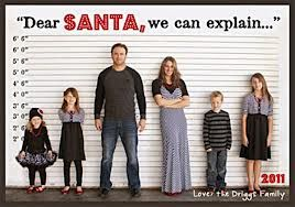 family christmas photo ideas (We don't do Santa, but this is a cute idea ~J)
