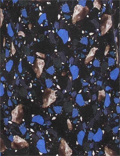 Acne Studios Standard- Print Terrazzo Blue Black