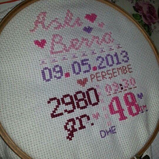 Cross stitch...
