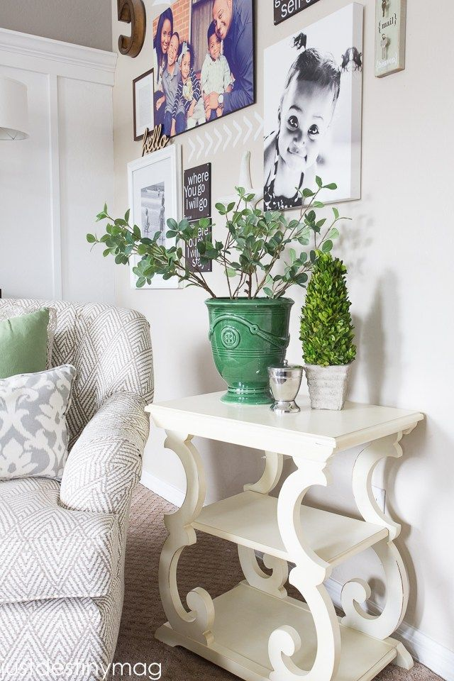 Functional Grey by Sherwin Williams: Green and Gray Family Room Inspirationl -Just Destiny_-4