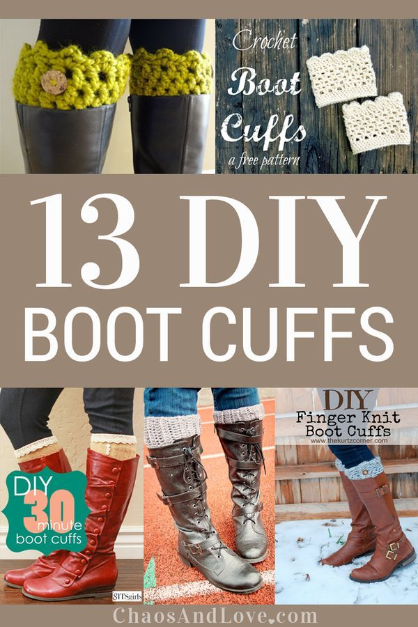 Wanna make yourself some really fun boot cuffs? Here are 13 DIY Boot Cuffs tutorials!