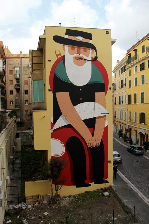 Il Civitavecchio Mural Made For Progetto Waves In Civitavecchia, Rome.  Curated By Walls, Part 87
