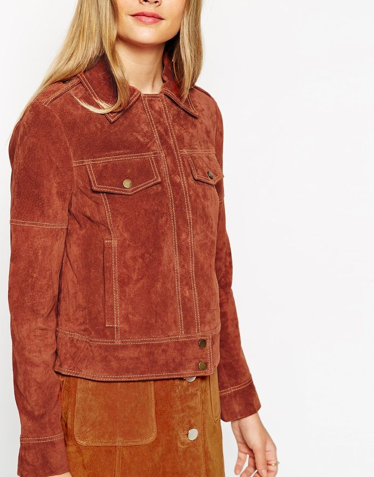 ASOS | ASOS Western Jacket In Suede With Stitch Detail at ASOS