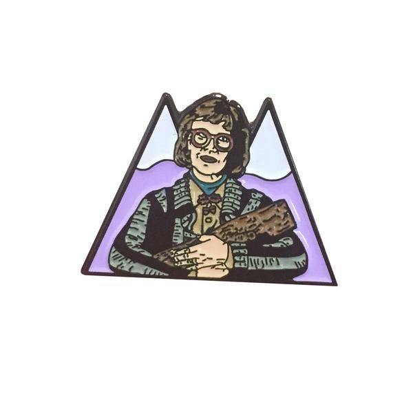 LOG LADY Twin Peaks Enamel Pin
