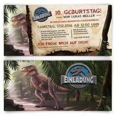 Einladung zum Kindergeburtstag - Dinosaurier Park #geburtstag #einladung #geburtstagseinladung #kindergeburtstag #dinosaurier #dinopark #dinosaurierpark #jurassicpark