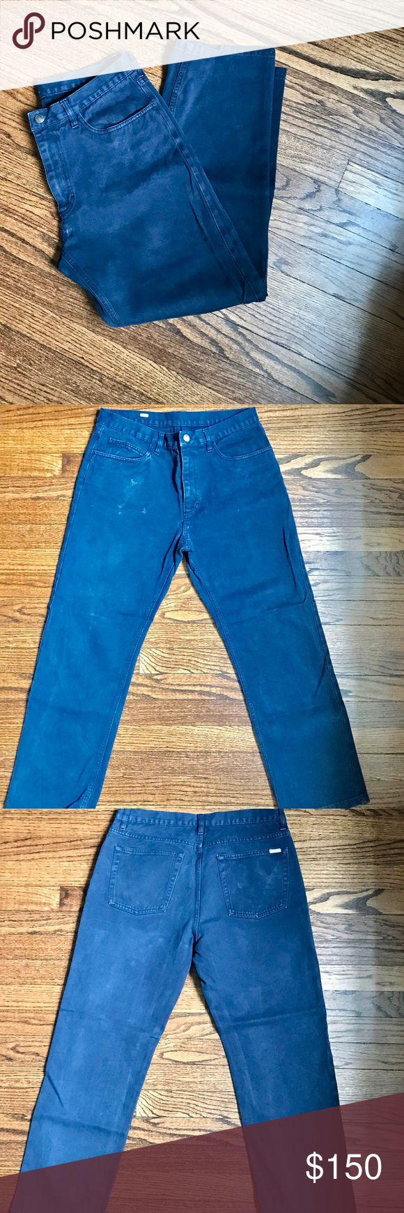 Loro Piana Men's Jeans Dark Blue Sz 33 Loro Piana Men's Five Pocket Jeans Dark Blue 100% Cotton Size 33 retail $595 Loro Piana Jeans