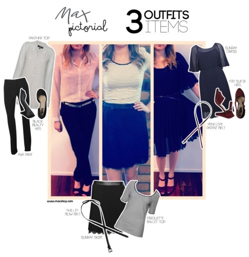 Max Pictorial... 3 Outfits, 3 Items www.maxshop.com