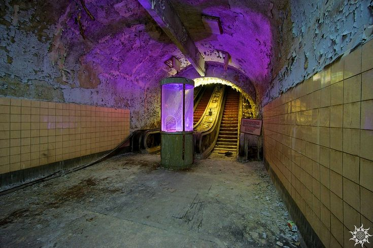 abandoned entrance in top secret plant in Russia