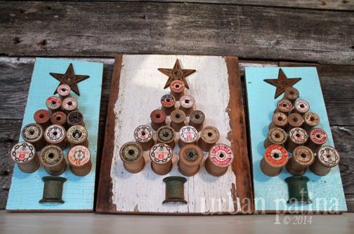 Urban Patina™: Rescued Relics + Upcycled Junk: Vintage Wood Spool Tree Art