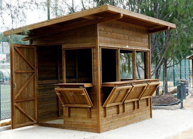 39 best display images on pinterest kiosk stand design - Casetas de madera jardin ...