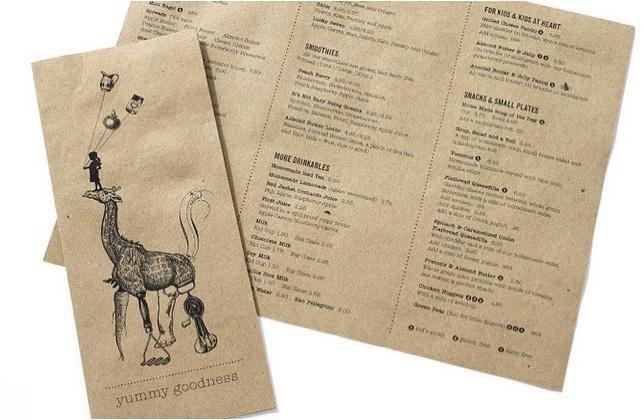 menu on kraft