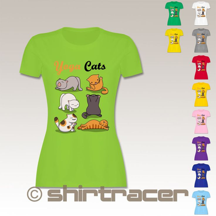 Yoga Cats LimeGraphics for Shirtracer :)