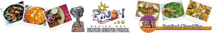 Filipino Recipes Portal Get the best Pinoy Recipes and Asian Recipes with pictures. Pinoy Recipes Home | About Filipino Recipes | Contact Us | Advertiser/Media KitSearch     Experience the awesome taste and delectable flavors of Filipino Food and enjoy these free Filipino Recipes on PinoyRecipe.net